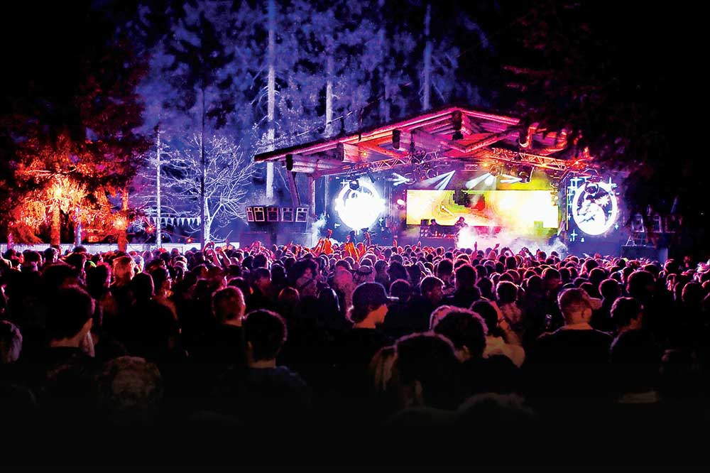 snowbombing festival in the woods
