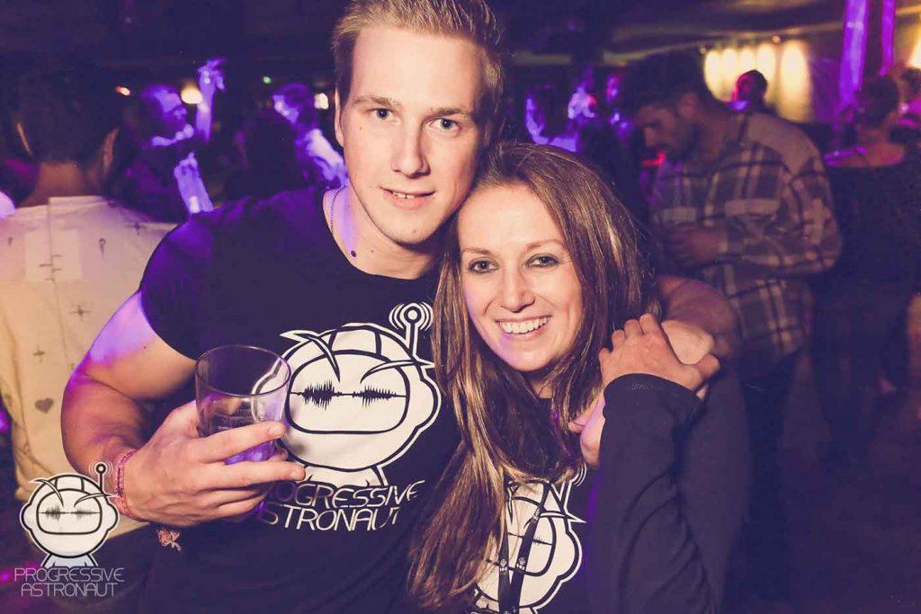 Progressive Astronaut party Nigel and Jessica