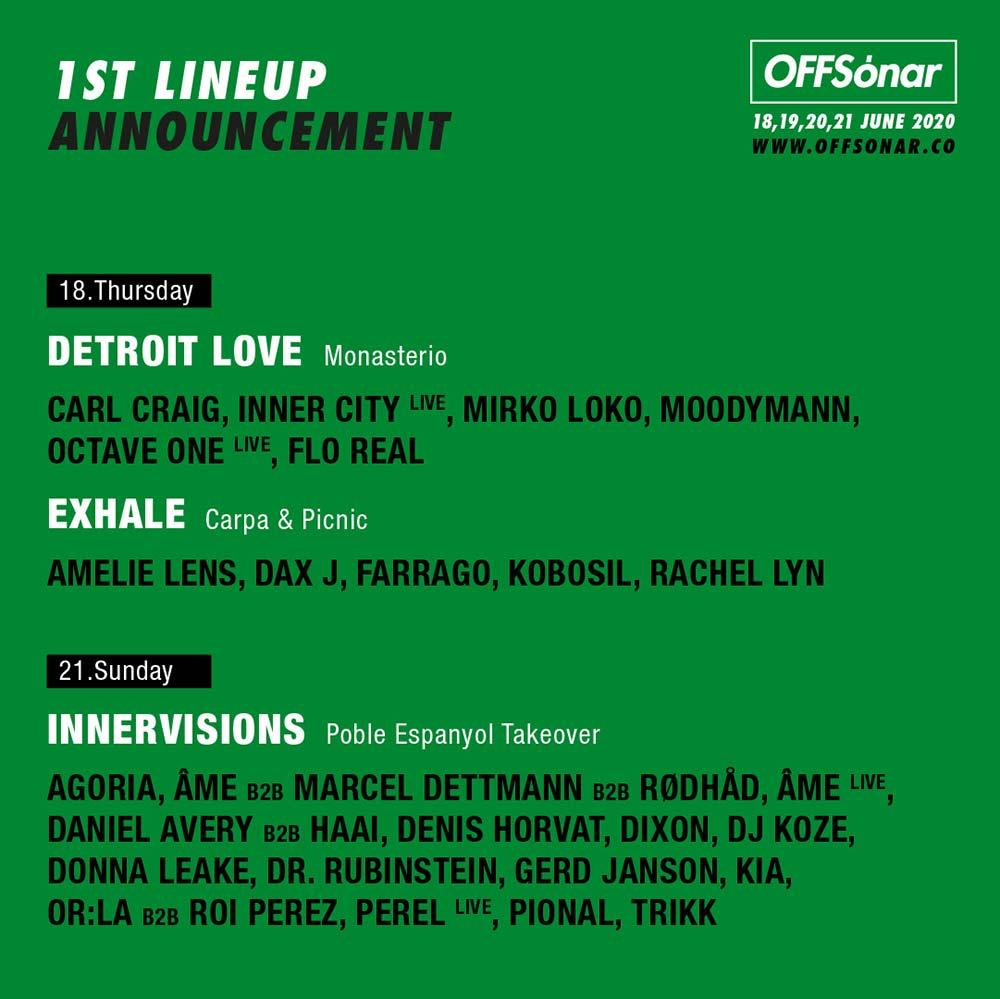 OFFSónar 2020 first lineup announced