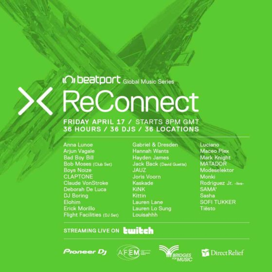Beatport ReConnect II Live Stream | 36hours, 36 DJs