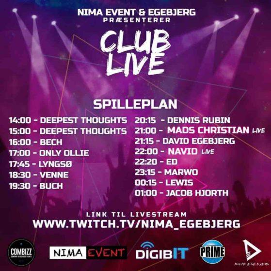 NIMA & Egebjerg - Club-Live